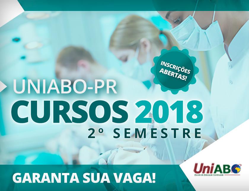 Cursos UniABO-PR - 2º semestre de 2018 – Inscrições abertas